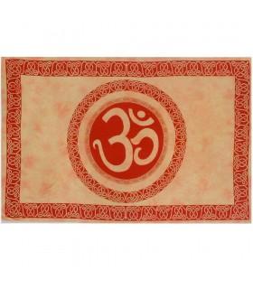 Tessuto di cotone India-Om Mandala-artigiano-210 x 140 cm