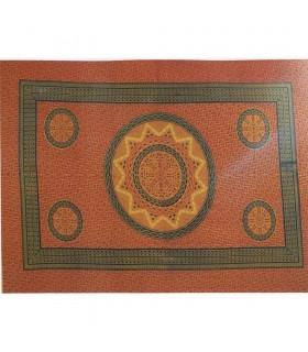 Soleil Mosaique de tissu de coton en Inde- Artisanat-210 x 140cm