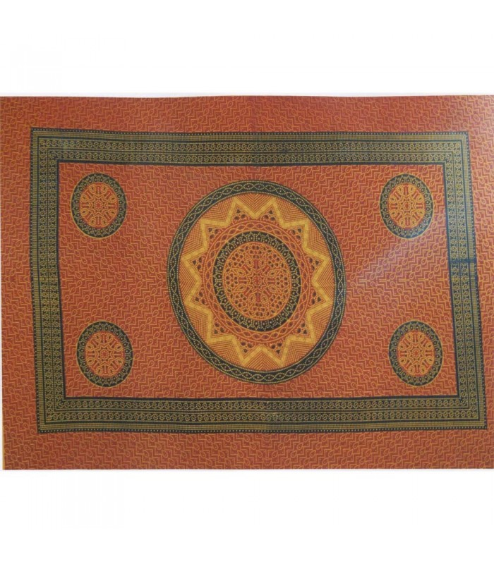 Tela Algodon India-Sol Mosaico-Artesana-210 x 140 cm