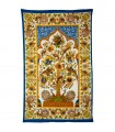 Fabric cotton India-tree of life frame - hand crafted-210 x 240 cm