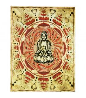 Artisanat tissu de coton en Inde-Buddha-140 x 210 cm