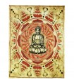 Algodão Tecido Artesanato Índia-Buddha-140 x 210 cm