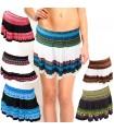Minifalda Estampada Verano-Seda - Colores-Ligera-Talla Unica