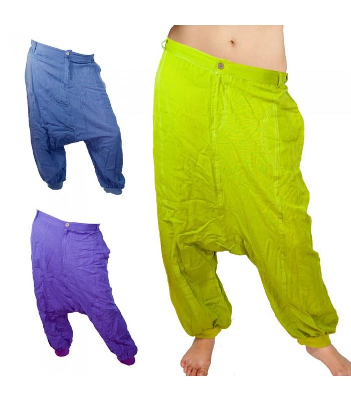 Pantalón Bombacho - Tela Algodón - Varios Colores - Botón