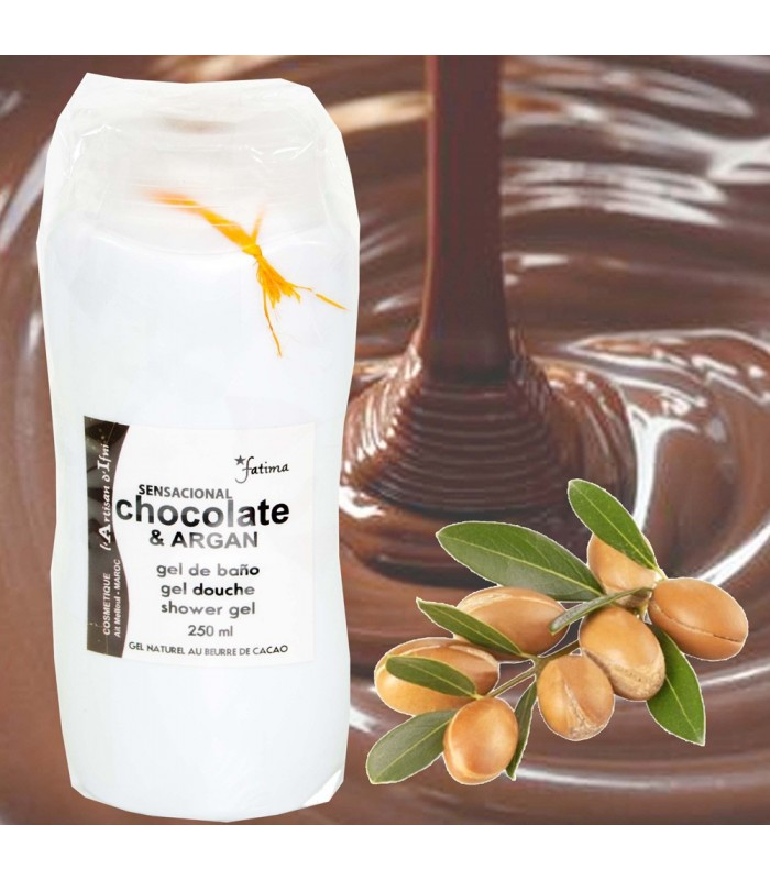Natural Gel with Organic Argan Oil and Chocolate-250 ml