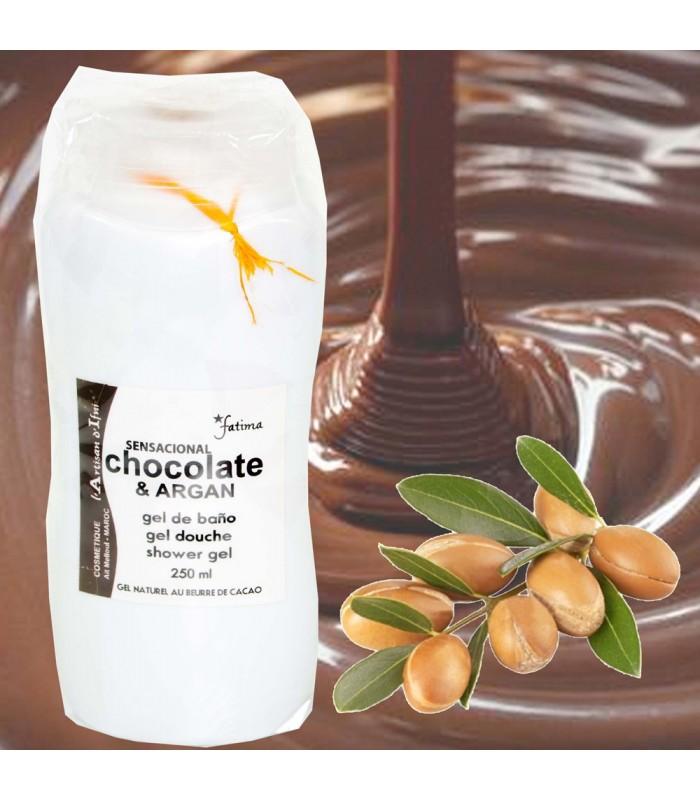 Gel Natural Ecológico con Aceite Argán y Chocolate-250 ml