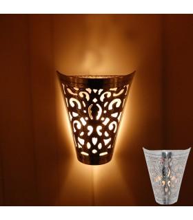 Tiraggio della parete in alluminio finitura lucida - floreale-