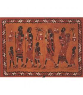 Ткань хлопок Индия-Familia племени Africana-Artesana - 140 x 210 см