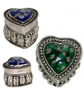 Alpaca Heart Box - Murano Glass - 2 Colors
