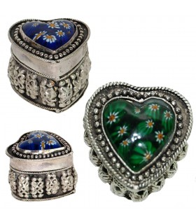 Alpaga Cœur Box - Verre de Murano - 2 couleurs