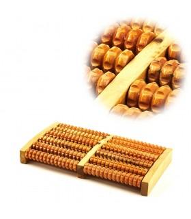 Rolos massager do pé - de madeira - 21 x 17 cm - Recomendado