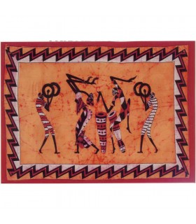 Cotton Fabric India-Tribal Music-Crafts-140 x 210 cm