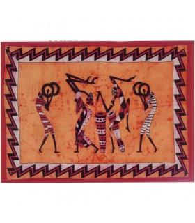 Material Baumwolle Tribal-Artesana Indien-Musica - 140 x 210 cm