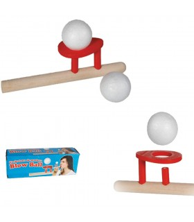 Pipe floating ball - wood - 15 cm - very funny