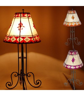 Lamp table - skin and Henna - multi-color - 50 cm