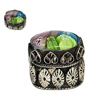 Feld Alpaka aufgezeichnet Mini - orientalischen Design - 3 cm
