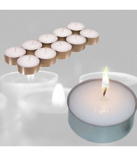 Paraffin Candles Pack 10 - Aluminum Base - 4 cm - No Manchan