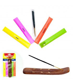 Pack Incensario Mini + 20 Varillas - 4 Olores - Ideal Regalo