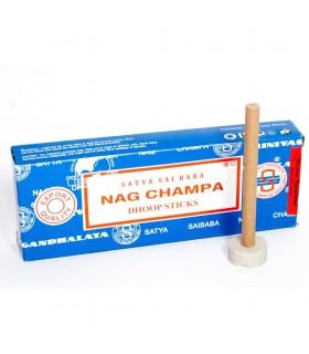 Nag Champa Dhoop Incense - Sticks Pasta - SATYA - holds 1 hour