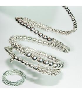 Silver Pearl Bracelet - Flexible - 6 cm