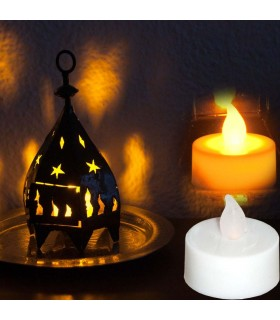 Tea lights - imitation called fire - 4 cm-Pila button - safely