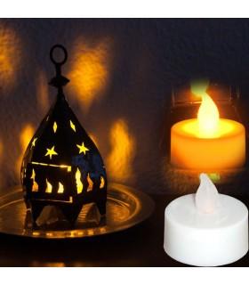Vela Led - Imitación Llama Fuego -4 cm-Pila Botón - Sin Peligro