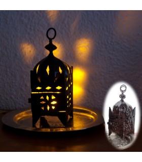 Mini lanterne de fer Quadre pour bougie -Forgeage Calada-18cm