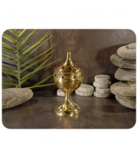 Incense burner censer high - bronze - draft - 13 cm