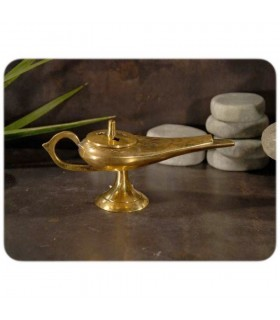 Censer Aladdin brass engraving - hole Carbon - 2 sizes