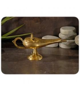 Gravado Bronze Censer Aladdin - Furo de carvão - 2 Tamaño