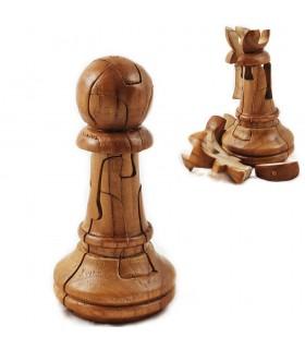 Quebra-cabeça gigante de Xadrez Peão de madeira - Engenho - 14 c