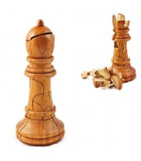 Puzzle Madera Alfil Ajedrez Gigante - Ingenio - 17 cm - Calidad