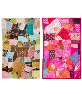 Tapete Pathwork Calidad-155 x 95 cm - Artesanal - Varios Colores