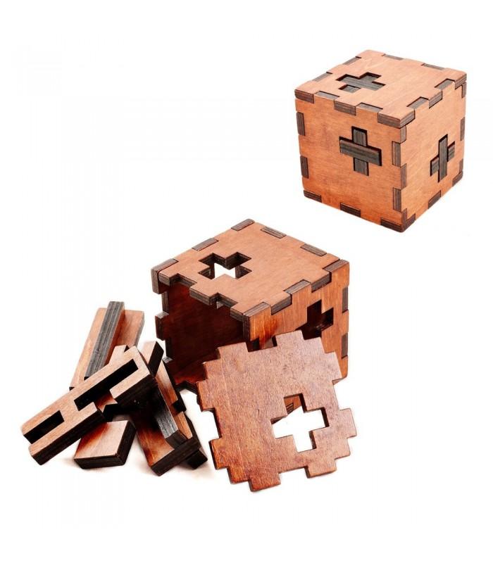 Cubo Puzzle 3 Cruces - Juego Ingenio - 6.4 cm - Desmontable