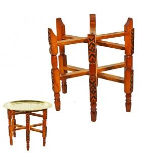 Beine Holz graviert Tee - klappbar - Lagerplätze 30-100 cm