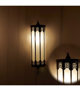 Aplicar Vidro Oblong - Projecto de árabe - - Branco opaco 50 cen