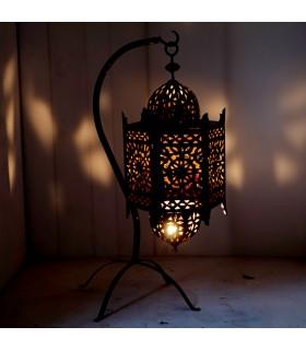 Lámpara Forja Calada Colgante - Pie 70 cm - 2 Piezas - Andalusí