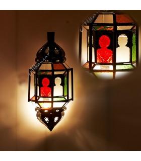 Aplique Calado de Cristal - Barras -  Multicolor - Arcos Arabes
