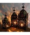 Square lantern of iron for candle - 3 sizes - NOVELTY
