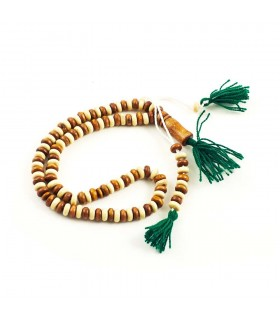 Tasbih wood bicolor 100 balls - wood - 25 cm - Ideal trip