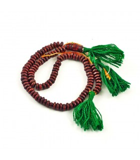 Tasbih dark wood - 100 balls - wooden - 20 cm - Ideal trip