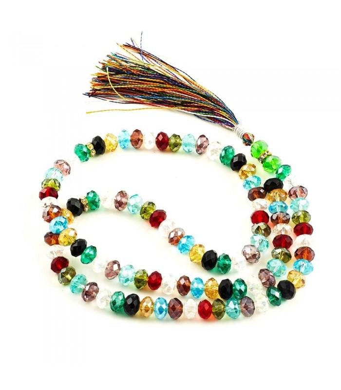 Tasbih Cristal 99 bolas - Bolas Colores - 35 cm - Gran Calidad