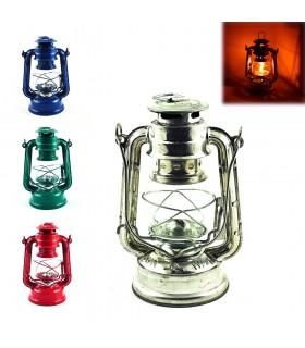 Quinque - metallo e vetro - colori multipli - ferro e vetro