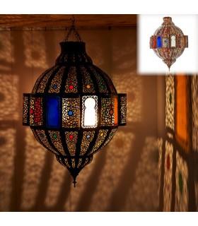 Esmeralda Lampe Fretwork - Fenêtres Couleurs - 75 cm - Qualité