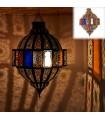 Lámpara Esmeralda Calada - Ventanas Colores - 75 cm - Calidad