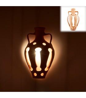 Gelten Sie Ton Krug - 40 x 23 cm - Design Arabisch