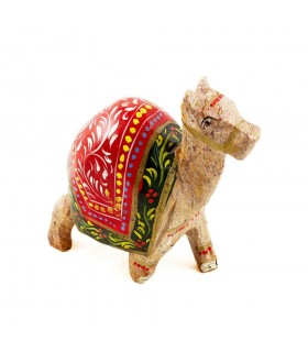 Camello Pintado Miniatura - Realizado Artesanalmente- 8 cm