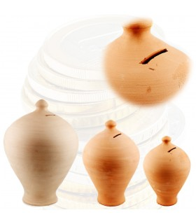 Artisan Clay Piggy Bank - 3 Sizes - Spanish Production