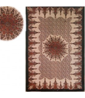 Tessuto cotone idrofilo India - stella fiore - mano artigianale-140 x 210 cm