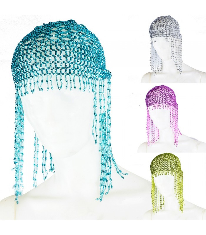 Belly Dance Hat - Bright Crystals - Various Colors